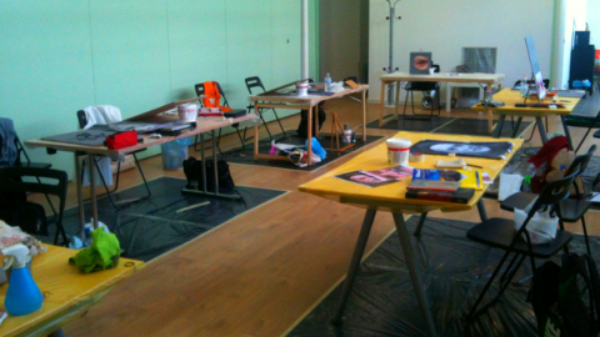 Allestimento per workshop o laboratorio